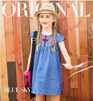 Wholesale Noble Jeans - Girls dresses Jeans skirts Elegant&Noble Embroidered Unique Style High quality Original design 5-16T Junior's children girls clothing summer