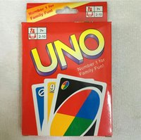 Wholesale Paper Puzzle Games - UNO Poker Card Standard Edition Family Fun Entermainment Board Game Kids Funny Puzzle Christmas Game free shipping in stock