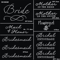 Wholesale Elements 11 - Free shipping Jubilee Wedding Pack 11 Pc Bride Iron on Rhinestone Crystal T-shirt Transfers By Jubilee Rhinestones DIY DH0023#