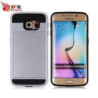 Wholesale Armor Case S3 - For Samsung S6 Edge Card Slot Cases Samsung S3 S4 S5 S6 Armor hard back with Wallet Case
