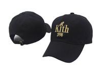 Wholesale kith hat - New 2017 Kith 1996 dad hat KITH Classic Logo cotton SNAPBACK baseball cap Ronnie Fieg caps casquette savage Box logo caps nasa hats