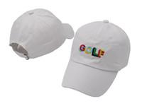 Wholesale Golf Wang Caps - Tyler The Creator Golf Hat Black white Dad Caps Wang Cross T-shirt Earl Odd Future snapback caps