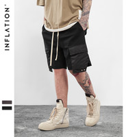 Wholesale Wholesale Hip Hop Dance Clothing - Wholesale- INFLATION 2017 Men's Hightstreet Casual Shorts Streetwear Hip Hop Dance Clothes For Men Black  grey Cotton sweat jogger shorts