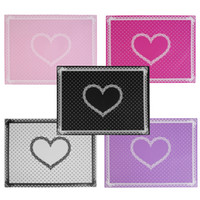горошек-гвозди оптовых-Wholesale- Silicon Lace Polka Dot Heart Pattern Nail Art Table Mat Pad Manicure Clean Cute Foldable Washable Nail Tools