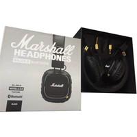 elma atışı toptan satış-Marshall Major II 2.0 Bluetooth Kablosuz Kulaklıklar DJ Stüdyo Yendi Kulaklık iPhone Samsung için Derin Süper Bas Gürültü Izole Kulaklık