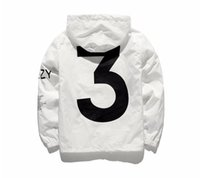 Wholesale Outerwear Woman S - KANYE WEST Jacket Men KANYE Hip Hop Windbreaker YEEZUS TOUR 3 Jackets Men Women Streetwear Fashion Outerwear uniform coat black White
