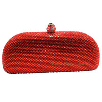 Wholesale Beige Hard Case Clutch - Wholesale- Christmas Gifts Crystal Diamond Hard Cased Evening Purse and Box Clutches Crystal Evening Bag Black Red Green Royal Blue Gold