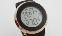Wholesale Digital Watches For Sale - wholesale Hot Sale Brand Guc Digital watch For Men Grammy Chronograph Gold Sheleton Black Dial Rubber Band Watch