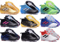 Wholesale Black Leather Tango Shoes - 2017 ACE 17 PureControl FG Dragon soccer shoes Original men soccer cleats ACE Tango 17 Purecontrol TF IN football boots ultra boost 38-46