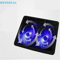 Wholesale Notebook Cooling Pad Price - Wholesale- HIPERDEAL Factory Price USB 2 Fan Port Cooling Cooler Pad for Laptops Notebook With LED Light 60316 Drop Shipping