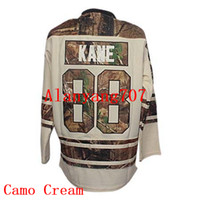 Wholesale Charcoal Material - Men Hockey KANE #88, Camo, Cross Check Charcoal, St. Paddys Day, Home, Jeans Material, New Third Embroidered jersey