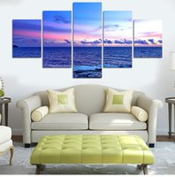 More Panel Digital Printing Fashion 5Panel Deep Blue Ocean Home Decor  Canvas Wall Art Decor Painting