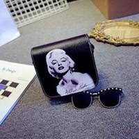 katze kupplung handtaschen großhandel-Großhandels-Frauen-Weinlese-Kurier-Beutel Cat Monroe-Beutel-Leder-Handtaschen Damen Handtasche Bolsa Feminina Bolsas Weibliche Handtasche 2016
