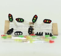 Wholesale Z Scale Wholesale - Wholesale- JTD13 10 sets Target Faces With LEDs for Railway signal N or Z Scale 3 Aspects