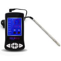 Wholesale Medical Urethral Sounds - Massager Electric Shock 150mm Metal Urethral Plug Catheters&Sounds Product Medical Themed Kit BDSM Orgasm Toy Urethral Dilator I9-163