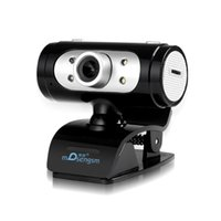 Wholesale Webcam Led Lights - High Definition webcam 1280*720 720p Pixel 4 LED HD Webcams Web Cam Camera With Night Lights For currency Computer PC laptop