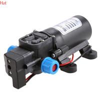 Wholesale 12v high pressure water pump - DC 12V 60W High Pressure Micro Diaphragm Water Pump Automatic Switch 5L min FULI Mini Electric Water Pump Wholesale TK0932