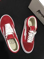Wholesale REVENGE x STORM NEW size35 New Unisex Low Top High Top Adult Men s Canvas Shoes colors Laced Up Casual Shoes Sneaker shoes red
