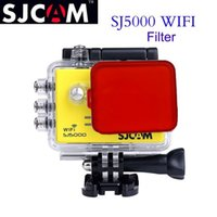 Wholesale Uv Lens Cover - Wholesale- SJCAM SJ5000 Filter Lens For SJ5000+ SJ 5000 Plus Action Camera Accessories Diving Protective SJ5000WIFI UV Circle Mirror Cover