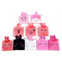 Wholesale Melody Case - Wholesale- Kawaii melody rabbit coin purse cartoon animal Quartet Change Wallets Portable coins Holders Key Case Mini Bag Girls Small Gift