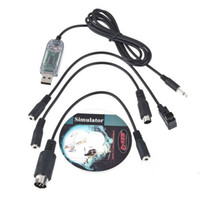Wholesale Fms Simulator Usb - USB RC Simulator FMS Adapter Cable For Controller Futaba JR walkera Helicopter Promotion