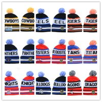 Wholesale Cheap Nrl Hats - new Beanies Cheap Pom Pom Beanies Skull beanies Brand Winter hats Knitted Beanie Hat Mens Beanie Women Beanie Hats all NRL caps On Sale