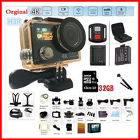 Wholesale Roller Controller - 2017 New H3R Wifi Ultra HD 4K Video Wide Angle Sport Camera Dual Screen Wi-fi+2.4G Controller 1080p 60fps action Camera VS HR8