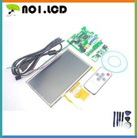 Wholesale Pi Touchscreen - Wholesale-INNOLUX 7-inch 3mm Raspberry Pi LCD Touch Screen Display TFT Monitor AT070TN92 with Touchscreen Kit HDMI VGA Input Driver Board