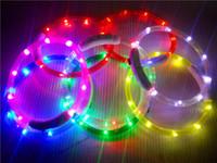 colar usb venda por atacado-Recarregável Piscando Coleiras de Cachorro de Noite USB luminosa coleira para animais de estimação levou luz de carregamento USB coleira de cachorro brilhante Teddy Flash Collar Pet TO132