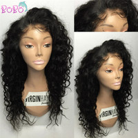 Wholesale Curly Kinky Hair Beautiful - 8A Luxury Beautiful High Ponytail Lace Front Human Hair Wigs Curly 100% Peruvian Virgin Hair Full Lace Human Hair Wigs