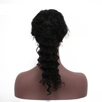Wholesale European Full Swiss Lace Wigs - Full Lace Wigs Deep Wave Natural Color Bleached Knots Best Quality European Hair Front Lace Wigs Best Quality Swiss Lace