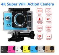 "Wholesale Wholesale Used Electronics - 4K Action camera F60 Allwinner 4K 30fps 1080P sport WiFi 2.0"" 170D Helmet Cam underwater go waterproof pro camera MOQ:10PCS"