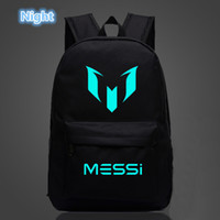 Wholesale Backpack Logos - Logo Messi Backpack Bag Men Boys Football Travel Bag Teenagers School Gift Kids Bagpack Mochila Bolsas Escolar