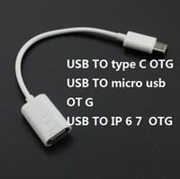 ipad otg kabel großhandel-OD3.0 16.5CM USB, zum C MALE USB zu MICOR USB zu IPAD OTG Kabel 3 Art Kabel für Macbook Chromebook 200pcs / lot zu schreiben