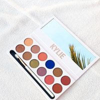 Wholesale More Metallic - More stock Kylie Jenners 12color Eyeshadow palette with pen Cosmetics The new 12color Eyeshadow Palette Preorder Kyshadow free shipping