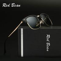 Wholesale Bean Waterproof - Fashion Sunglasses Club Bean Men Women Brand Designer Retro Eye cat Vintage Pilot Sun Glasses Shades for Male Red Mirror Oculos soleil