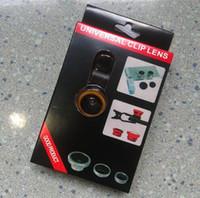 Wholesale Digital Camera Eye Lens - Magnetic 3 in 1 Wide Lens+Macro Lens+180 Fish Eye Lens For iPhone 5 5S 5C 6 6s plus samsung Galaxy s6 Digital Camera