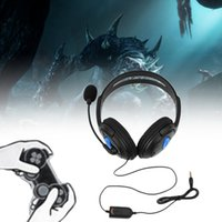 Wholesale Computer Usb Headset - 1pcs Wired Gaming Headset Headphones with Microphone for Sony PS4 PlayStation 4 Large soft ear pieces