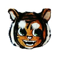 Wholesale Tiger Mascot Heads - Tiger Head (Only Head) Mascot Costumes Cartoon Character Adult Sz 100% Real Picture
