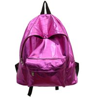 gümüş hologram sırt çantası toptan satış-Toptan- moda hologram sırt çantası kadın okul omuz çantalarıbackpacks kadın lazer gümüş renk sırt çantası mini holografik çanta xa550b