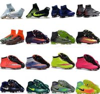 Wholesale Spike High Boots - High Top Mens Kids Soccer Shoes Mercurial CR7 Superfly V FG Boys Football Boots Magista Obra 2 Women Youth Soccer Cleats Cristiano Ronaldo