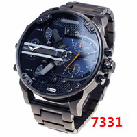 Wholesale Stainless Steel Military Black - 2017 watches men luxury brand DZ7314 DZ7313 fashion casual mens quartz watch military montre homme male wristwatch wrist watches