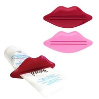 Wholesale Hot Sexy Kisses - Sexy Hot Lip Kiss Bathroom Tube Dispenser Toothpaste Cream Squeezer Home Tube Rolling Holder Squeezer Toothpaste Clip CCA6507 3000pcs