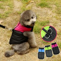 Wholesale Winter Coat D - Pets Apparel Dog Clothes Cotton Jackets Soft Waterproof Cloth Comfort Dog Jumpsuits Easy Washing D Buckle Design Multi Colors 5 Sizes