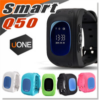 Wholesale Kids Wrist Watch Gps Tracker - Q50 Kids GPS Tracker Children Smart Watch Phone SIM Quad Band GSM Safe SOS Call PK Q80 Q90 Smartwatch For Android IOS
