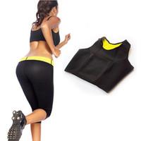 Wholesale Wholesale Training Bras - 100pcs Neoprene Slimming Sports Bra Hot Shapers Training Corsets Vest