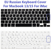 Dustproof Silicone Laptop Keyboard EU Euro US Version RUS Russian Keyboard Cover For Macbook Air Pro Retina 13 15 Silicone Computer Keyboard Protector For iMac