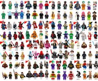 Wholesale Wholesale Sale Models Figures - 600pcs lot Individually Single Sale Marvel Super Heroes star avengers Batman Building Blocks Model Bricks Toys figures
