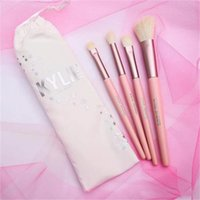 1 1 1 (Presell)- Kylie Jenner Turns 20 20th Cosmetics 4pcs Pink Brush Set 4 I WANT IT ALL Birthday Collection Limited Edition Makeup brushes tarte