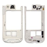 Wholesale Housing S3 White - Original Black white For Samsung Galaxy S3 I9300 Middle Back Frame Chassis Plate Bezel Back Housing Replacement free DHL